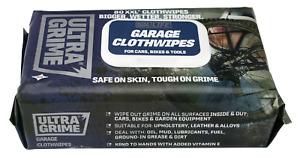 UltraGrime Life GARAGE Clothwipes -80 XXL Disposable Wipes (Cars, Bikes & Tools)