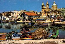 Marsaxlokk,Malta,Fishing Boats in Port,Used,Malta Stamp,c.1970s