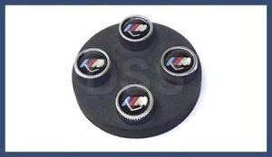 BMW Set of M Valve Stem Caps Silver Tire Caps M3 M5 M6 GENUINE + Warranty NEW