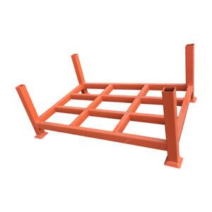 Wire Mesh Stillage Basket Heavy Duty warehouse  Stack Up Cage Orange Stillage