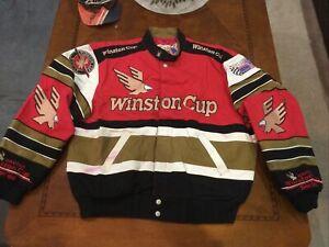 1996 Vintage NASCAR Winston Cup Jacket  NOS Jeff Hamilton Large USA Made