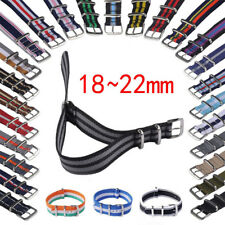 Unisex Infantry Military Army Fabric Buckle Nylon Wrist Watch Band Strap 18-22mm