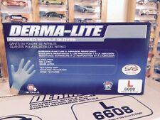 SAS Derma-Lite Powdered Nitrile Gloves Latex Free Size Large 100 Count 6608