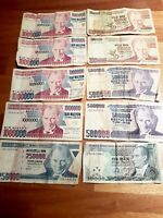 Turkish Paper Money ATATURK Vintage Currency Rare Bills 1970 Banknote Lira LOT
