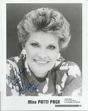 PATTI PAGE AUTOGRAPHED SIGNED PHOTO (8X10) DECEASED 8317