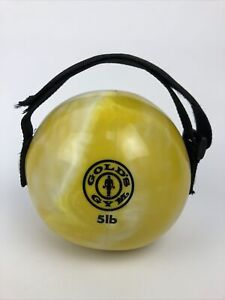 5 Lbs Golds Gym Black Yellow Soft Weighted Medicine Ball Handle Home Gym Workout