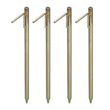 4 x XXL Bodenanker Erdanker Erdspieß Zeltanker Felsbodenhering Zelthering Stahl
