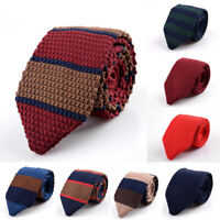 Men's Colourful Stripped Tie Knit Knitted Tie Necktie Narrow Slim Skinny Woven
