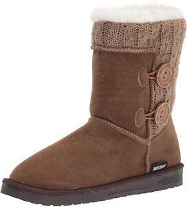 MUK LUKS Women's Matilda Boot-Taupe Fashion