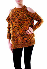 The cinquième femme abstraction Knit Pullover Pull Marron S RRP £ 68 BCF611