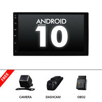 """CAM+OBD+DVR+7""""Double 2DIN Car Android 10 Stereo Radio 4G WIFI GPS DSP SD CarPlay"""