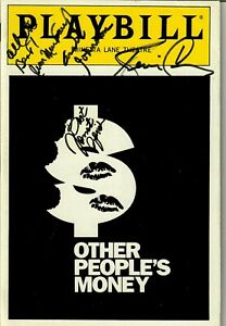 """Other People's Money"" Cast Signed Playbill (X4) JG Autographs COA"
