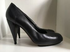 Lanvin Black Leather Heels 38