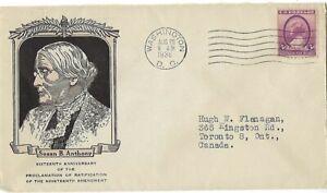 SC# 784 Susan B. Anthony on Linprint Cachet CV$15
