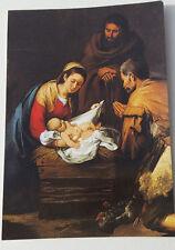 SANTINO Holy Card Preghiera Alla Vergine di San Carlo Borromeo Natività Murillo