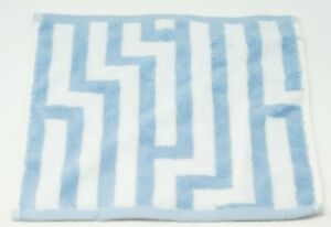 "Hotel Collection Circuitry 13"" Turkish Cotton Geometric Washcloth - Marine Blue"