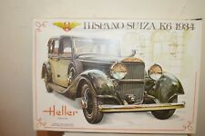 MAQUETTE VOITURE HELLER HISPANO SUIZA K6 1934 1/24 VINTAGE + 7 PEINTURE HUMBROL