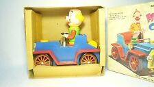 MARVELOUS VINTAGE TOY BIG HOPPING CLOWN CAR MASUDAYA JAPAN BATTERY  OPERATED