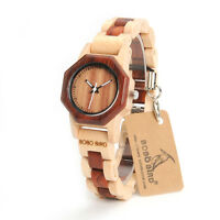 BOBO BIRD M26 Women Wooden Watches Quartz Watch Full Wood Band Fashion Design