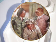 "THREE 3 STOOGES COLLECTORS PLATE ""POP ART"" FRANKLIN MINT w/ CERTIFICATE-BOX"