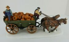 Dept 56 New England Village Harvest Pumpkin Wagon #56591 Base Dirty