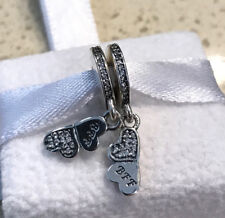 Pandora Best Friends Forever, CZ Dangle Charm #791949CZ +Gift Packaging +Pouch