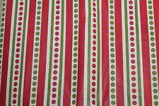 HOLIDAY STYLE POKA DOTS & STRIPES FLANNEL BACK VINYL TABLECLOTH 52 X 70""