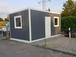 Bürocontainer 5,00m x 3,00m x 2,16m Pförtnerbüro Baustellencontainer Container