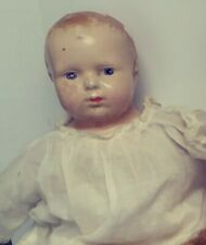1923 Vintage Composition Shoulder Head Doll Cloth Body 14 Inches