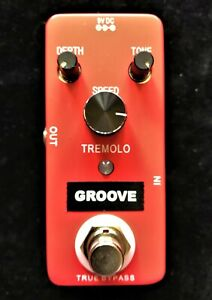 GROOVE GT1 Tremolo guitar pedal with true by-pass
