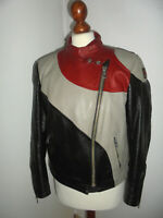 vintage ERBO Motorradjacke Lederjacke 70s german motorcycle leather jacket 44 S