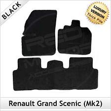 Renault Grand Scenic Mk2 2003-2009 Tailored LUXURY 1300g Car Floor Mats BLACK