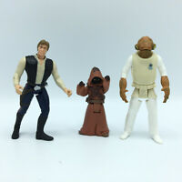 Star Wars 1995 -7 LFL Kenner Figurines Han Solo Admiral Ackbar Jawa Lot of 3
