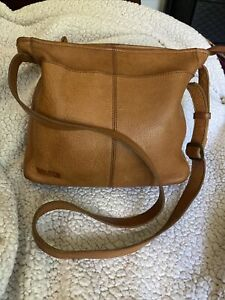 DULUTH TRADING CO Tan Leather Shoulder Bag GORGEOUS LEATHER