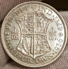 1936 King George V Half Crown UNC