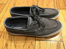 SPERRY WOMAN NAUTICAL SHOES GRAY CANVAS SIZE 10 GREAT CONDITION WORN TWICE