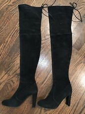 Stuart Weitzman Ledyland Black Suede Over-The-Knee Boot Size 37 US 7