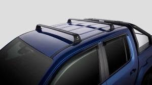 Genuine Volkswagen Amarok Flush Mount Roof Bars Set Black 95kg 2012-Current