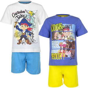 Pyjama nightclothes Boys Jake and the Neverland Pirates White Blue 98 104 110