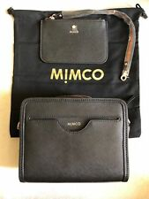 Mimco Phenomena saffiano Leather black crossbody/hip handbag
