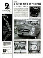1954 Nash PRINT AD Metropolitan 2-Door Public Designed Car