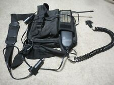 Vintage General Electric Carphone Cell Phone With Bag Case and Battery