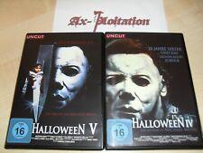 2 x UNCUT DVDs - Halloween 4 + 5 - Michael Myers Horror