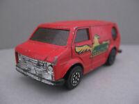 Super Wheels Hong Kong Vintage Bedford Hawk Red Ford Van