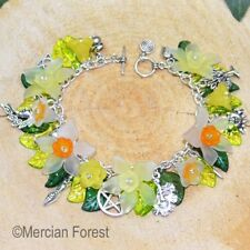 Wiccan Charm Bracelet - Daffodil- Pagan Jewellery, Wiccan, Witch, Pagan Bracelet