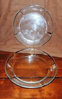 Set of 2 Duralex France Glass Salad Dessert Plates Scalloped Edge Pentagon Shape