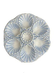 Vintage Blue and White Oyster Plate