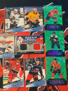 2020-21 Upper Deck Series 2 Young Guns Rookie Materials Dual Patch RC Lot
