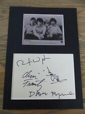 Talking cara signed autógrafos en 25x35 cm Passepartout inperson raras