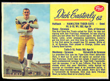 1963 POST CFL FOOTBALL #62 DICK EASTERLY EX-NM HAMILTON TIGER CATS Syracuse
